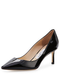 Jimmy Choo Romy Patent Pointed Toe 60mm Pump Black
