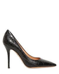 Salvatore Ferragamo 100mm Susi Croc Embossed Leather Pumps
