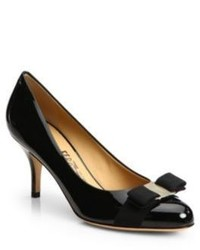 Salvatore Ferragamo Carla Patent Leather Bow Pumps