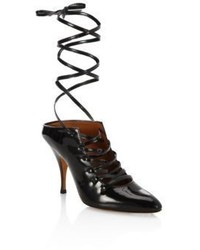 Givenchy Show Line Patent Leather Lace Up Pumps