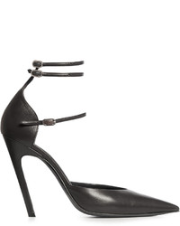Balenciaga Slash Triple Strap Leather Pumps