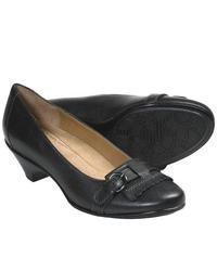 Softspots Solstice Pumps Leather Kiltie Accent Black