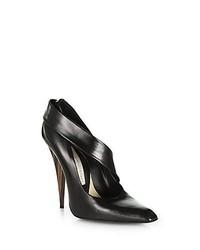 Stella McCartney Wooden Heel Faux Leather Pumps Black