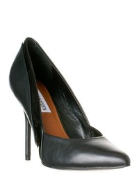 Steve Madden Clydee Textured Leather Pumps Black Leather Size 8
