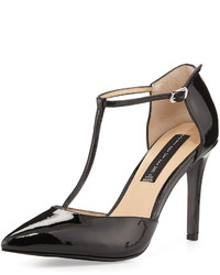 Steve Madden Steven By Amanda Patent Leather T Strap Pump Black