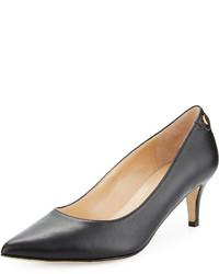 Neiman Marcus Stroll Leather Slip On Pump Black
