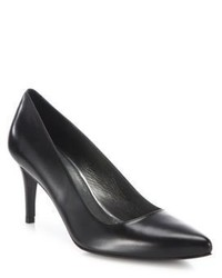 Stuart Weitzman Tessa Leather Point Toe Pumps