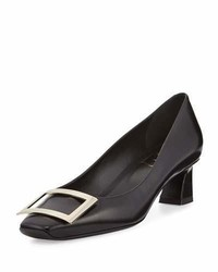 Roger Vivier Trompette Leather 45mm Pump Black