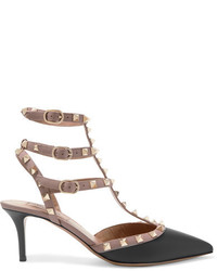 Valentino Rockstud Leather Pumps Black