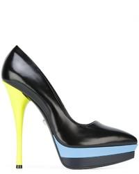 Versace Pointed Toe Platform Pumps