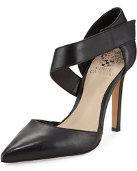Vince Camuto Carlotte Pointed Toe Leather Pump Black
