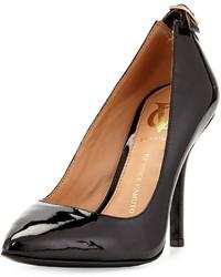 Vince Camuto Signature Chantilli Patent Leather Point Toe Pump Black
