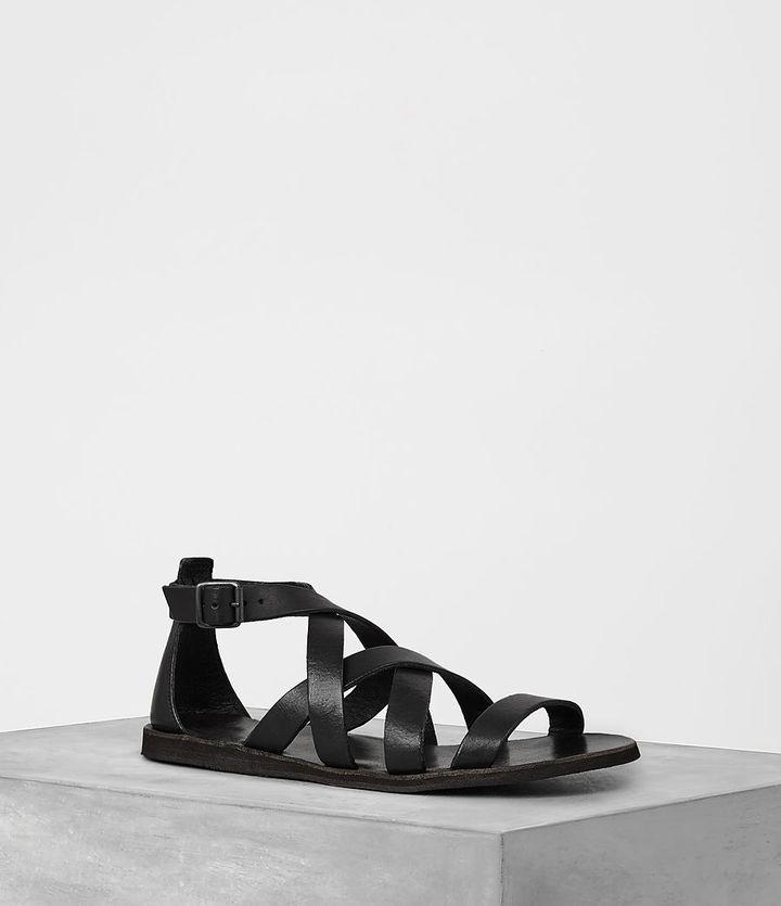 AllSaints Atlas Leather Sandal, $140