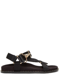 Burberry Black Ardall Sandals