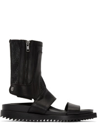 Ann Demeulemeester Black High Leather Sandals
