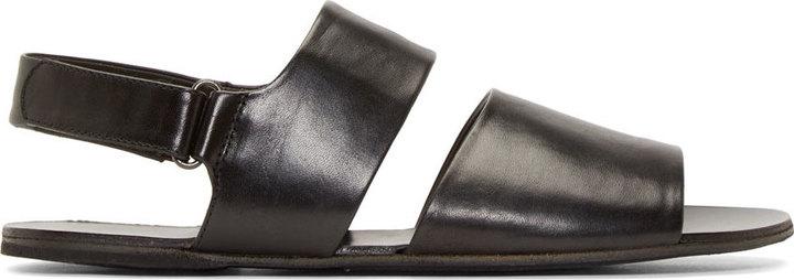 ca65998c23f99c ... Marsèll Black Leather Strappy Sandals ...
