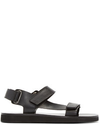 A.P.C. Black Leather Vlad Sandals