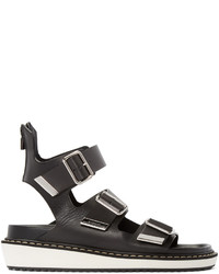 Givenchy Black Multi Strap Sandals