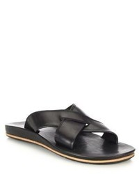 Frye Brent Leather Cross Strap Sandals
