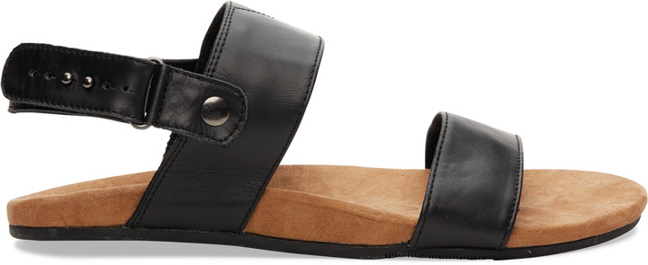 76349a2370c ... Toms Brown Full Grain Leather Moreno Sandals ...