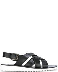 Dolce & Gabbana Cross Over Strap Sandals