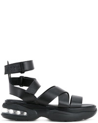 MSGM Cross Over Strap Sandals