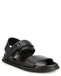 Maison Margiela Double Strap Leather Sandals