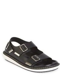 Givenchy Double Strap Wedge Sandals