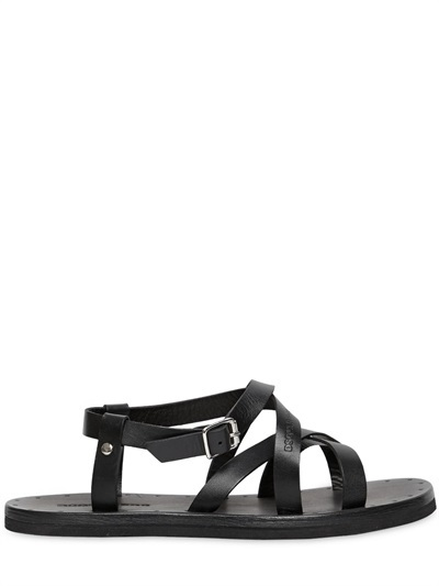 Dsquared2 Leather Sandals Buy Cheap 2018 rXByOnp