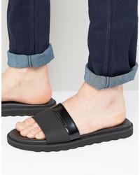 Hugo Boss Hugo By Delight Leather Slider Sandals
