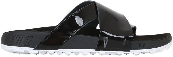 80c7e98ec19b ... Leather Sandals Nike Lab Taupo Crisscross Slide Sandals