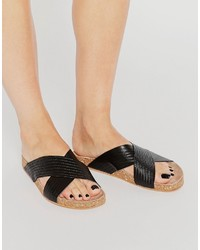 Vero Moda Leather Cross Foot Sandals