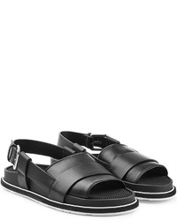 Jil Sander Leather Sandals With Buckled Back Strap