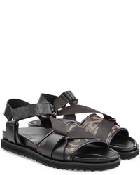 Alexander McQueen Leather Sandals With Print