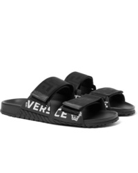 Versace Logo Detailed Webbing And Rubber Sandals