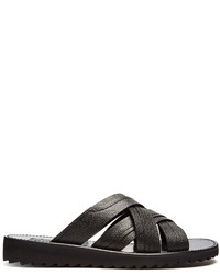 Dolce & Gabbana Multi Strap Leather Sandals