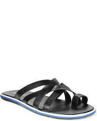 Armani Jeans Multi Strap Leather Sandals