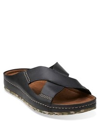 Clarks Originals Netrix Cross Leather Slide Sandal