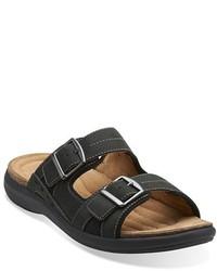 Clarks Originals Unbryman Part Leather Slide Sandal