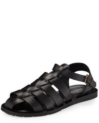 Kenneth Cole Reelism Leather Caged Sandal Black