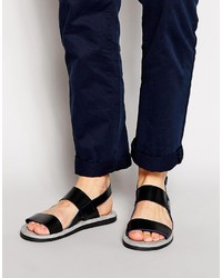 89391495f95b Men s Black Leather Sandals by Ted Baker