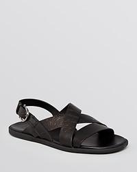Salvatore Ferragamo Rexton Stamped Gancini Strap Sandals