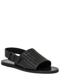 Bottega Veneta Sherpa Intrecciato Slingback Sandals