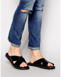 Diesel Sunwalk Leather Cross Over Sandals
