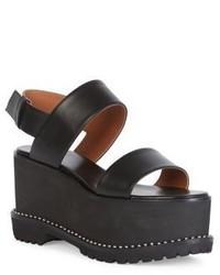 Givenchy Ursa Leather Platform Slingback Sandals