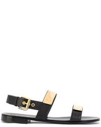 Giuseppe Zanotti Design Zak Metal Plate Sandals