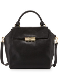 Foley + Corinna Bea Leather Satchel Bag Black