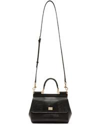 9f8c4cad03f6 ... Bag Dolce   Gabbana Black Iguana Embossed Small Miss Sicily ...