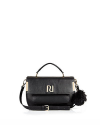 River Island Black Pom Pom Mini Satchel Bag