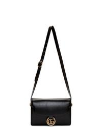 Gucci Black Small Gg Ring Shoulder Bag